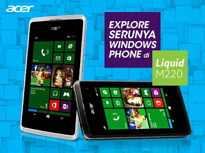 Harga HP Acer Liquid M220 - Windows Phone Murah Terbaru