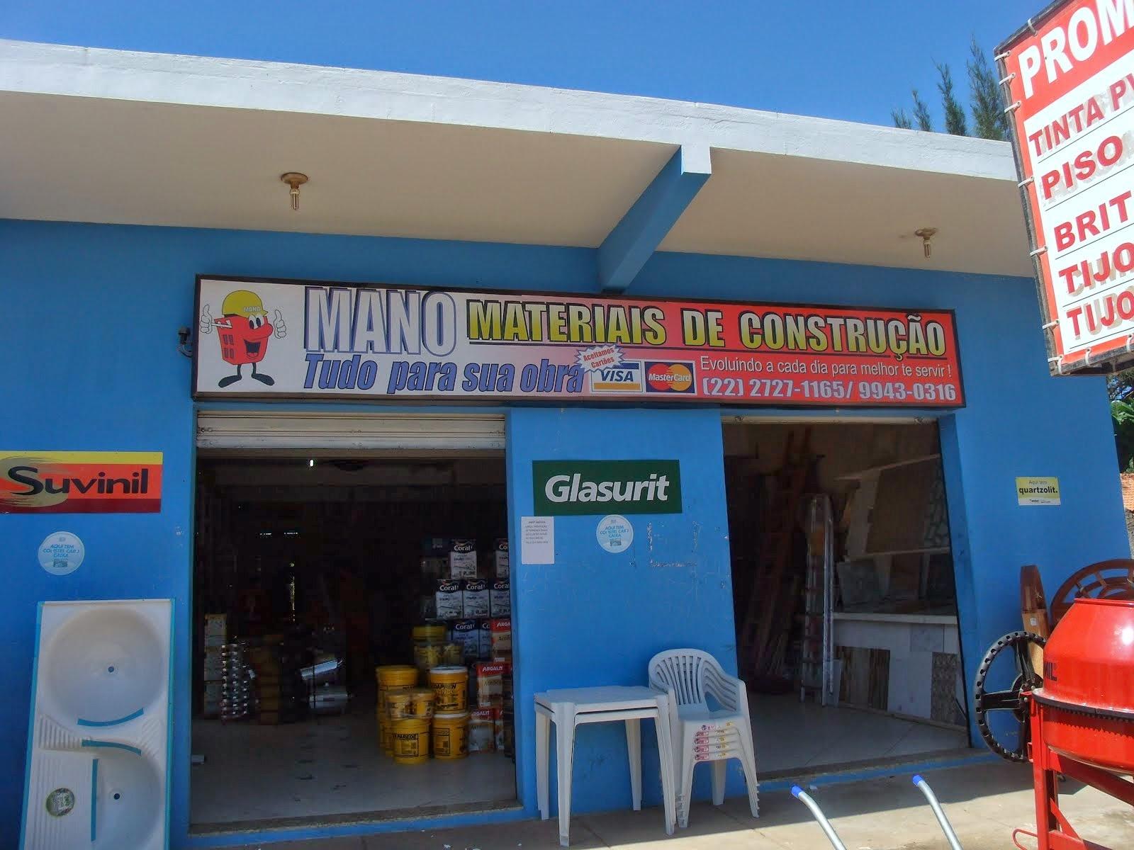 MANO MATERIAL DE CONSTRUÇÃO