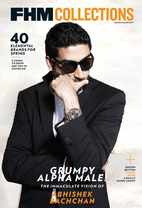 Abhishek Bachchan at FHM Collections Cover