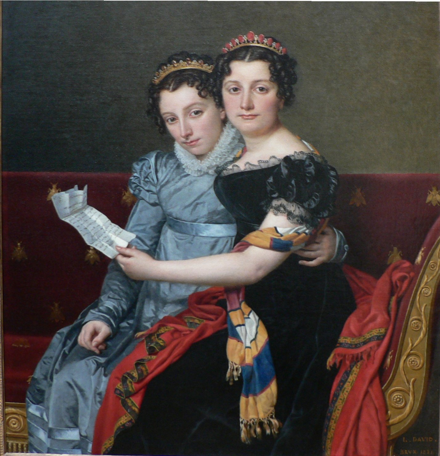 The Sisters Zenaide and Charlotte-Bonaparte. 1821