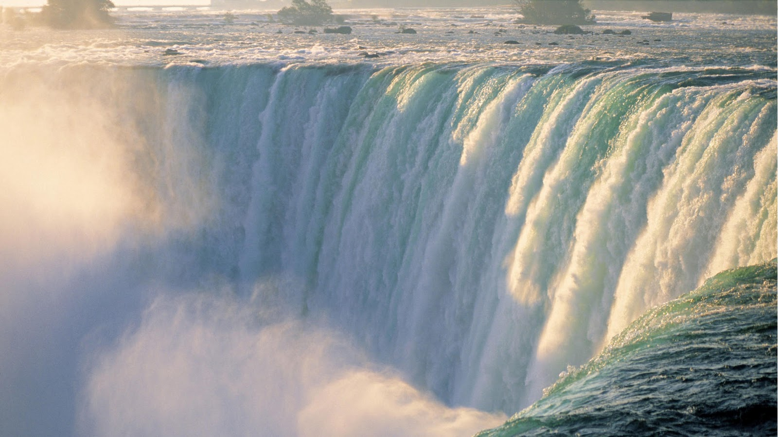 Niagara Falls Are Composed Of Two Major Sections Separated By Goat Island The Horseshoe On Canadian Side And American