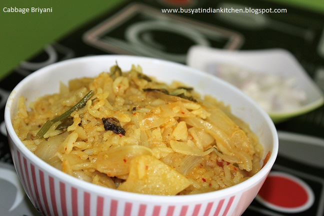 cabbage briyani