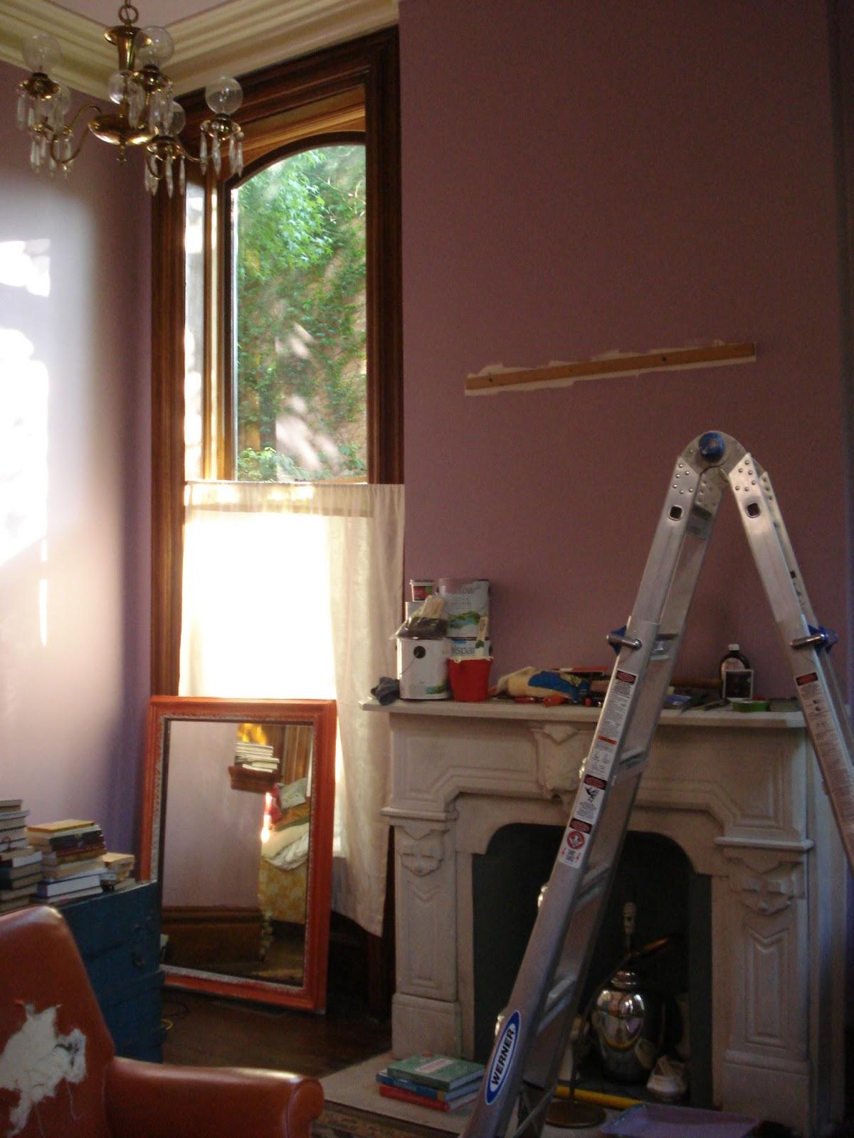 Happy Go Vintage House Sneak Peek Front Room Painting Amazingness