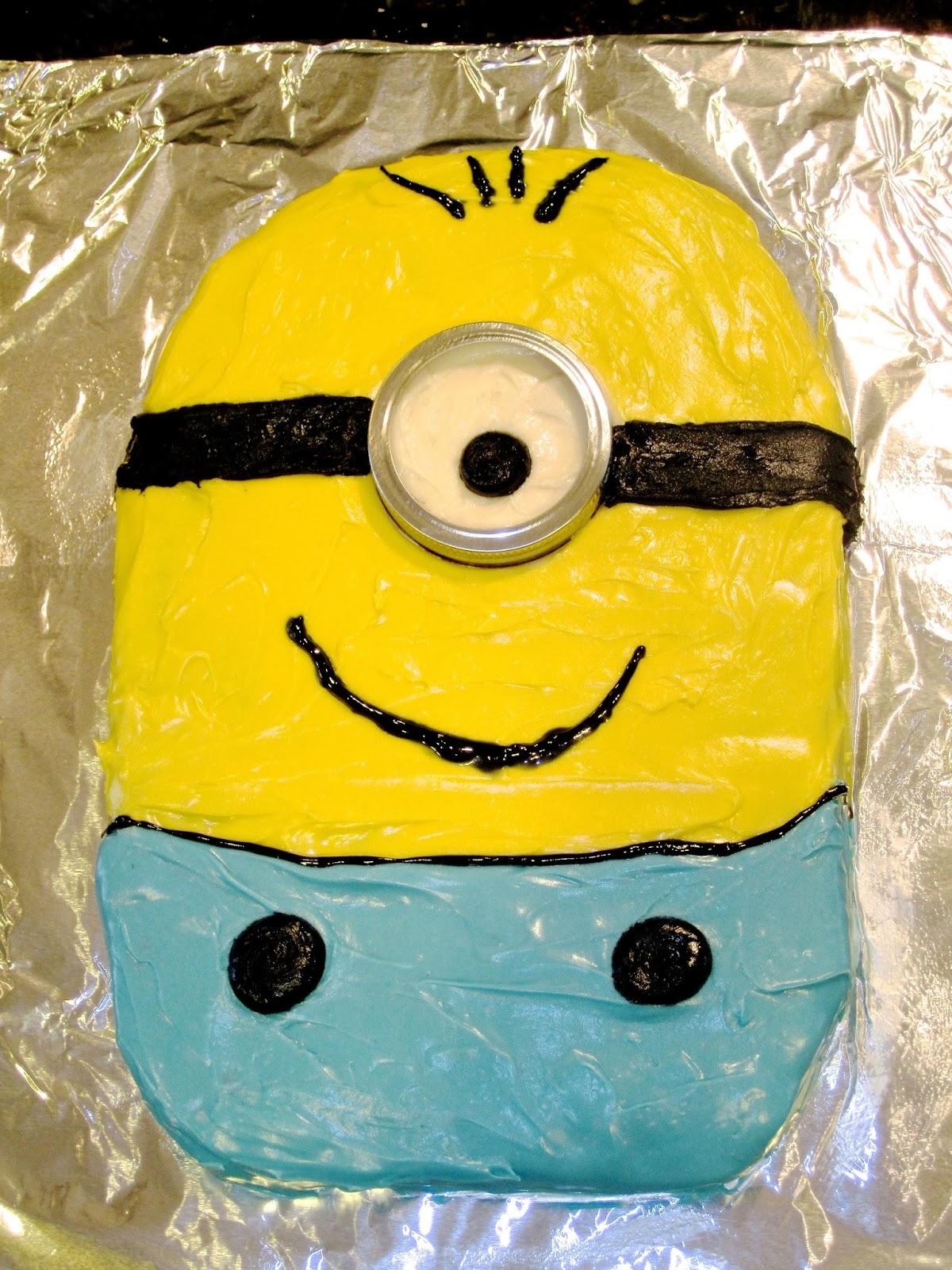 a piece of cake Minion Birthday Cake