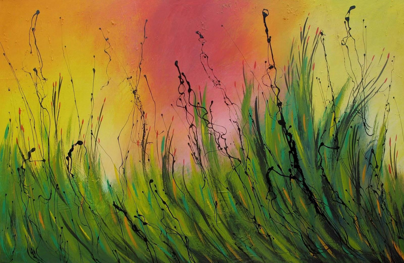 Cuadros modernos pinturas y dibujos paisajes abstractos for Imagenes de cuadros abstractos faciles