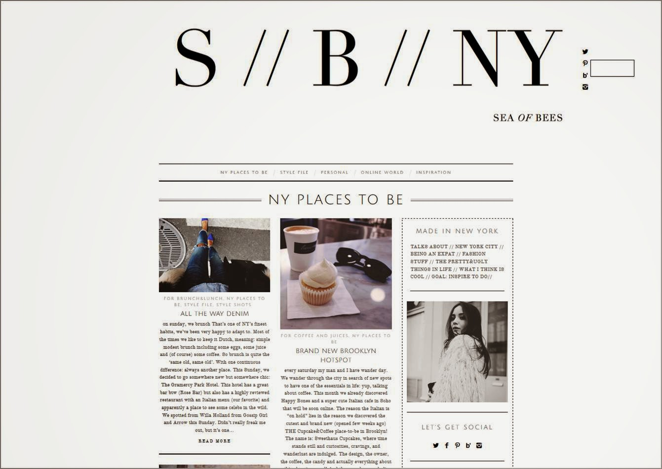 New-York City Blog Sea of Bees bloggeuse New-yorkaise fashionista Bo