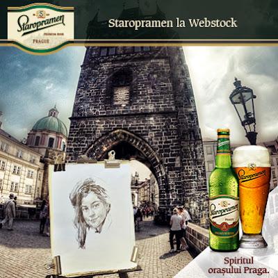 portret cu bere, marca Staropramen