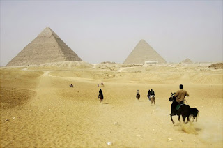 Ancient Pyramids in Giza, Egypt