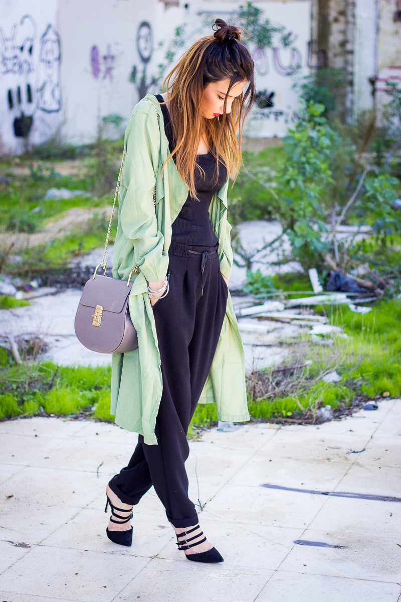 hipster trench