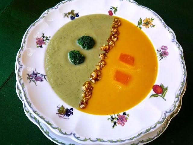 Crema de calabaza y brocoli