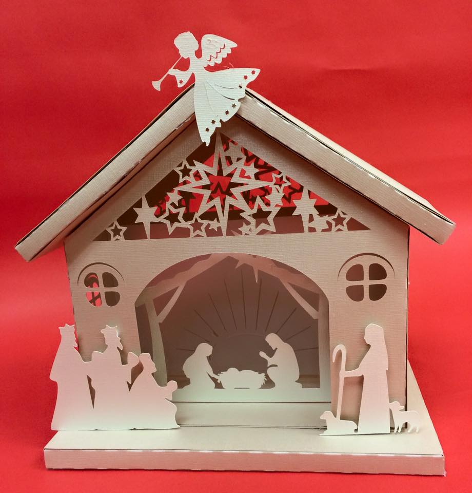 Randi 39 s crafty creations december 2015 january2016 for 30 lighted nativity christmas window silhouette decoration