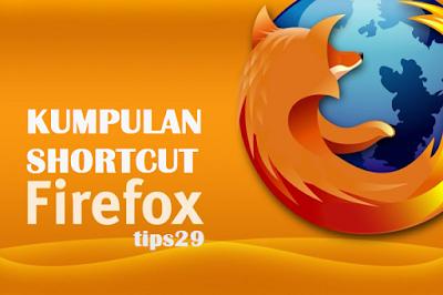 Kali ini Tips29 berbagi tentang beberapa kumpulan tombol shortcut yang wajib diketahui sebagai pengguna mozzila firefox,sehingga mempermudah aktivitas browsing.
