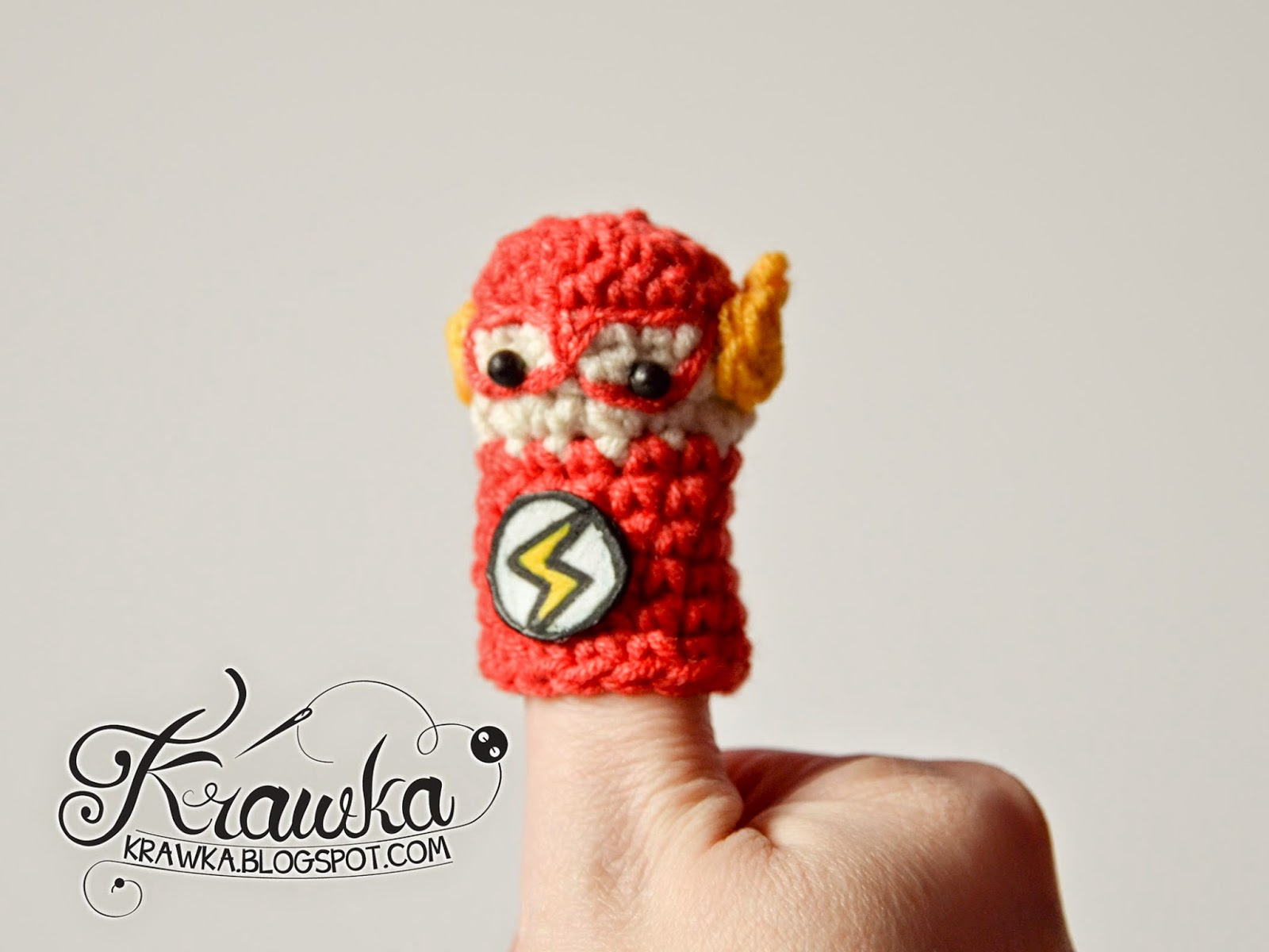 Krawka: Cute set of crochet finger puppets with FREE patterns. Justice League :  Flash