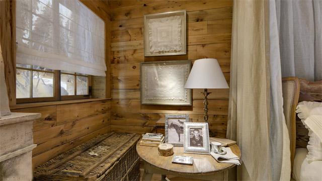 Rustik chateaux como decorar un dormitorio rustico y elegante en invierno - Mesita de comedor ...