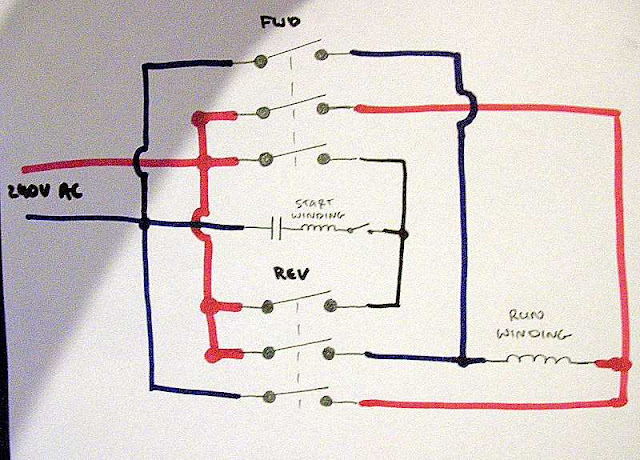 115 Volt Wiring Diagrams on reversing switch for baldor motor