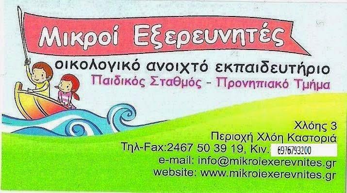 ΜΙΚΡΟΙ ΕΞΕΡΕΥΝΗΤΕΣ