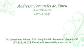 Nutricionista Andressa Abreu