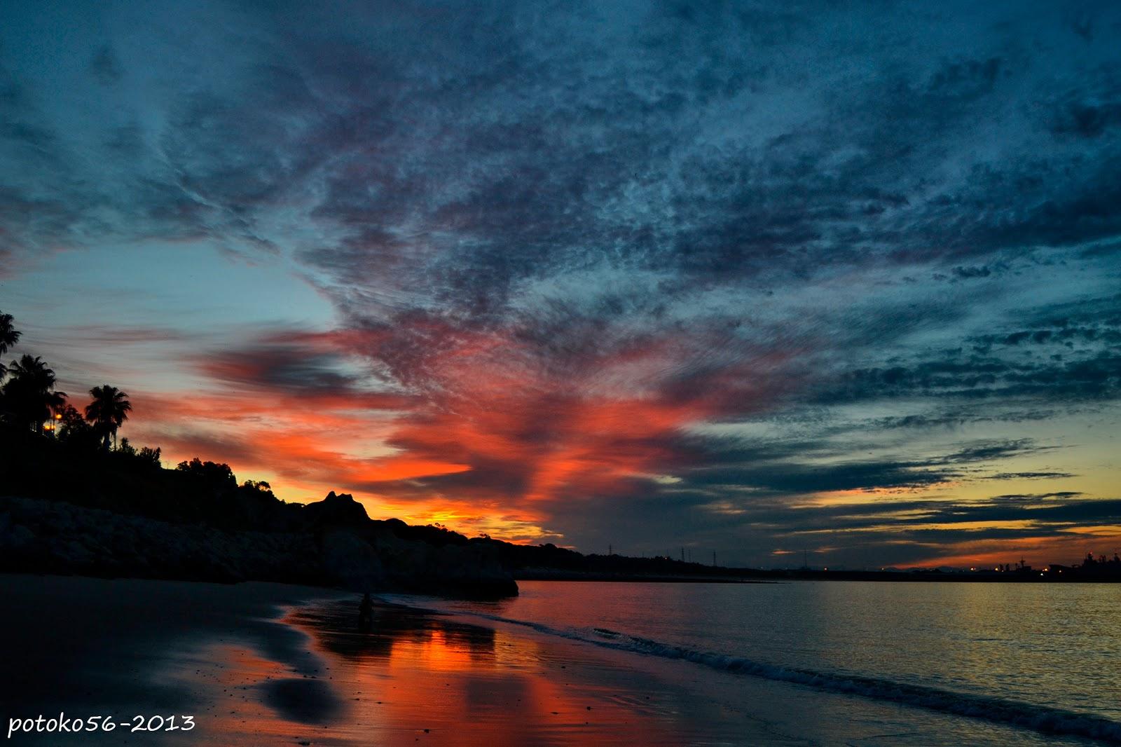 Un color especial el amanecer de Rota