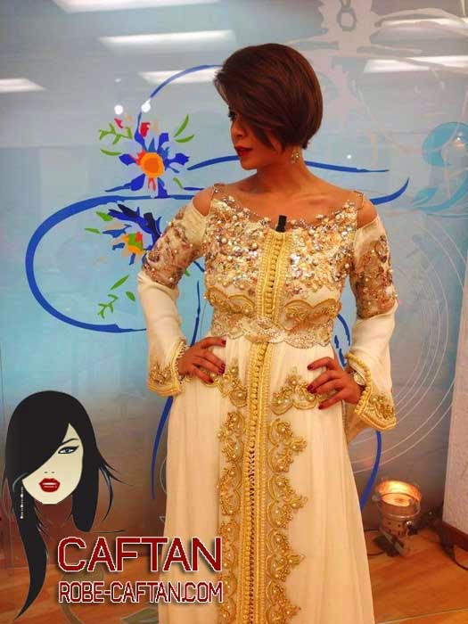 Caftan 2015  robe de soirée ornée