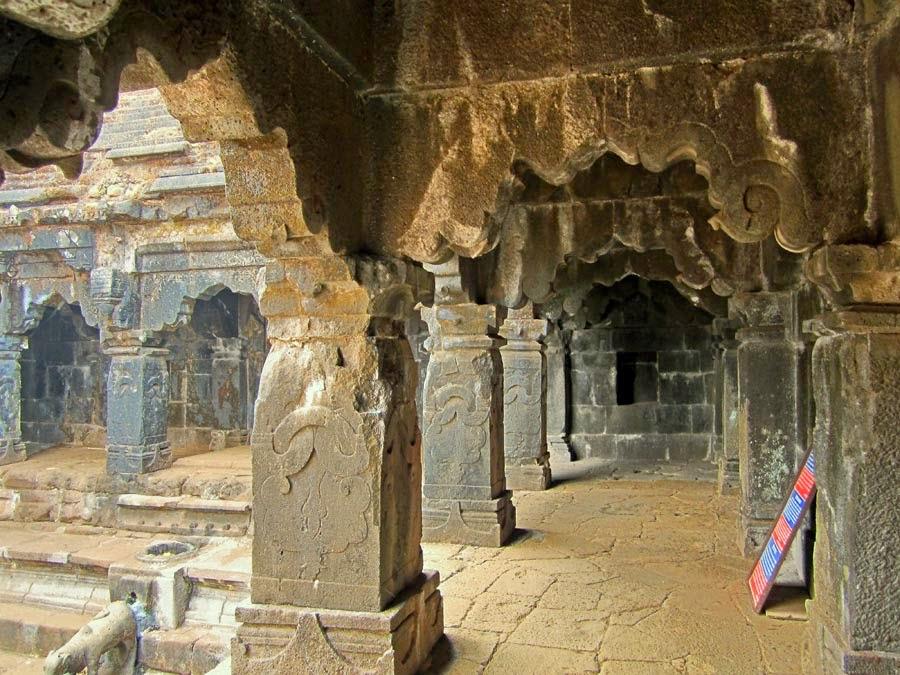Krishna temple open corridors