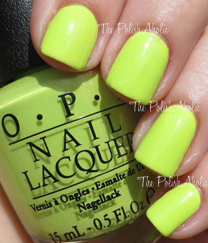 The PolishAholic OPI Neons Collection Swatches Review