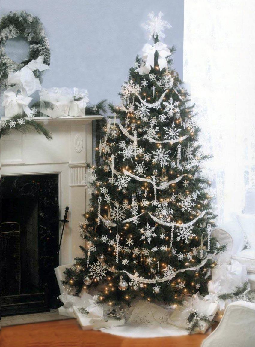новогодняя елка со снежинками
