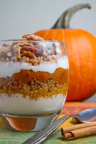 Pumpkin Pie Quinoa Parfait with Gingersnap Pecan Streusel on Closet ...