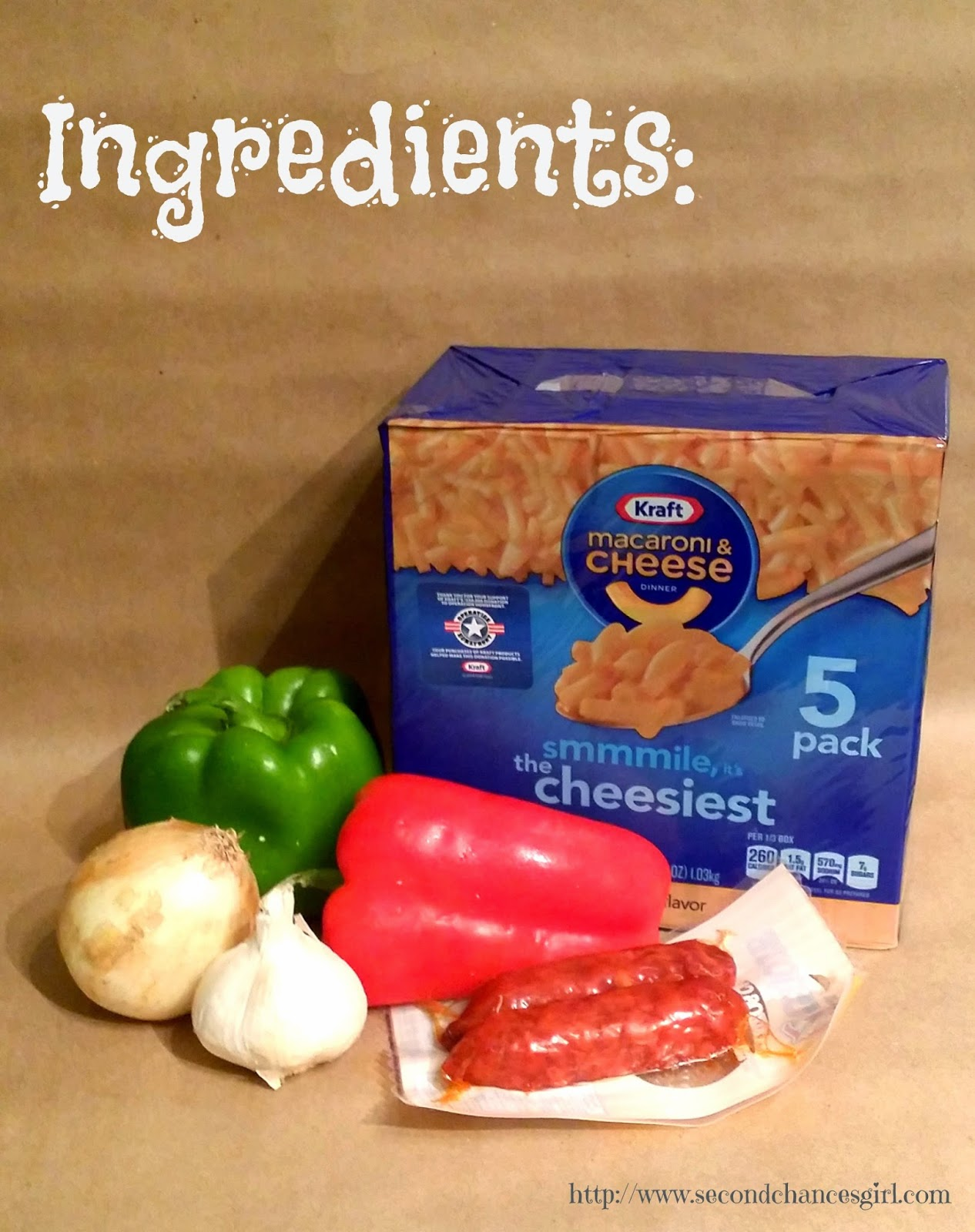 Ingredients for Chorizo Mac & Cheese #GolazoKraft #shop