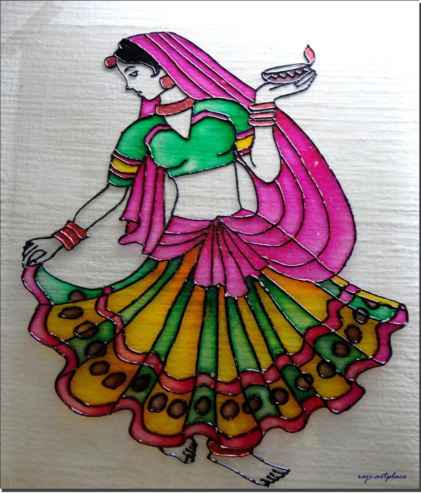 Dancing Girl Paintings Art Raji's Art Place Dancing Girl