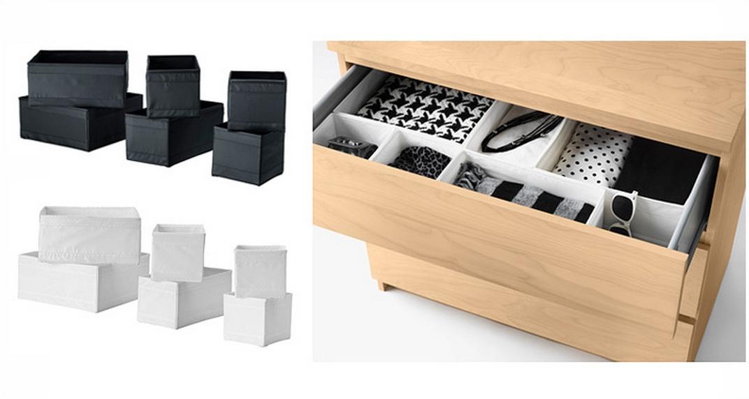 Ikea skubb 6 storage box drawer organizer wardrobe for Ikea belt hanger
