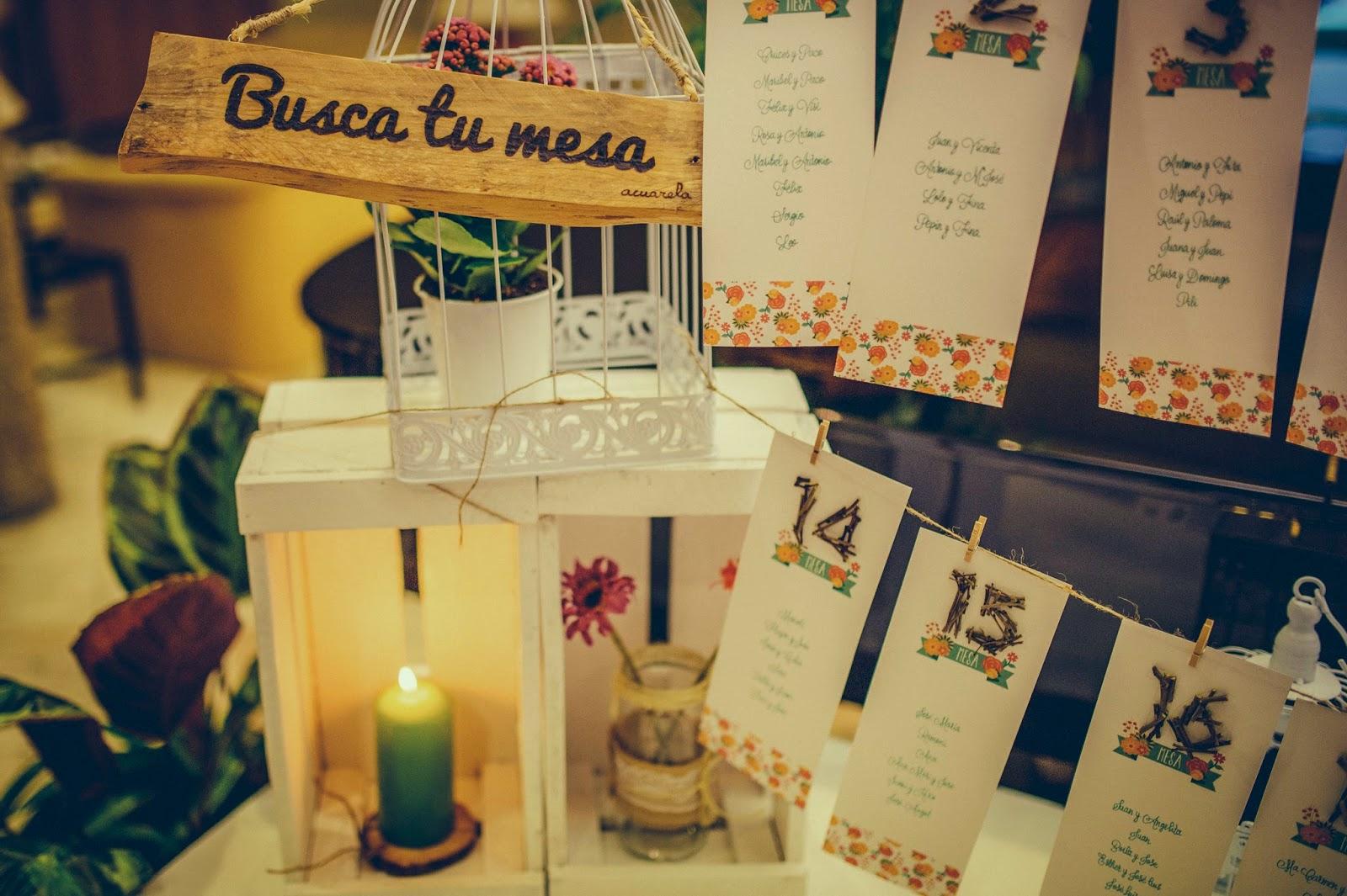 Listas mesas boda