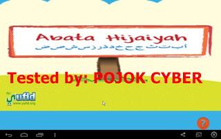 Tampilan Aplikasi Abata Hijaiyah v1.0 buatan Yufid Inc.