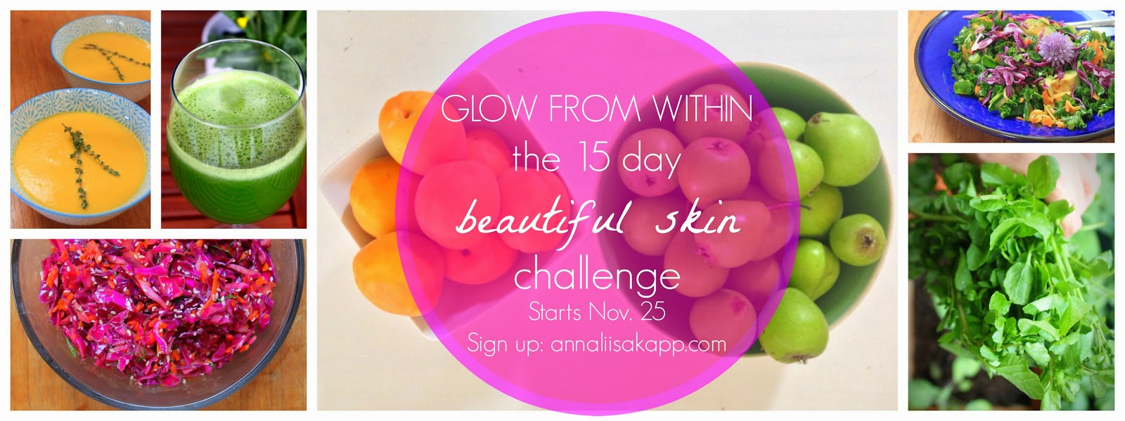 Free online motivation challenge: Healthy beautiful skin from within