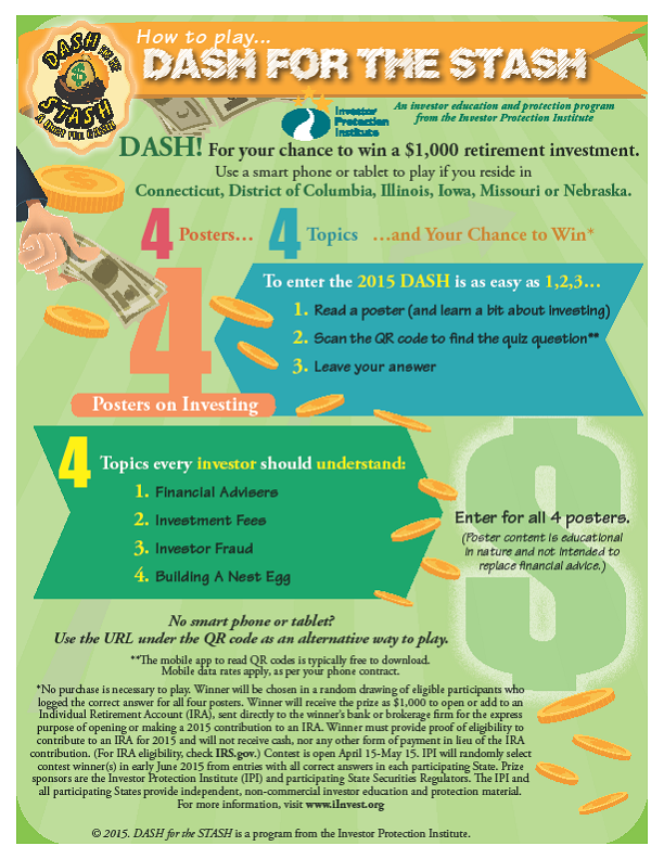 """From the Library Garden Bench: $1,000 Prizes in """"Dash for the Stash ..."""