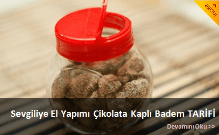 El Yapmı çikolata kaplı badem tarifi