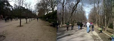 Correr en el parque de El Retiro. Ocio verde en Madrid.