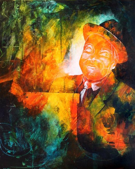 Count Basie portrait in progress
