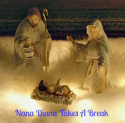 Break my white and gold nativity and a manger scene you won t forget