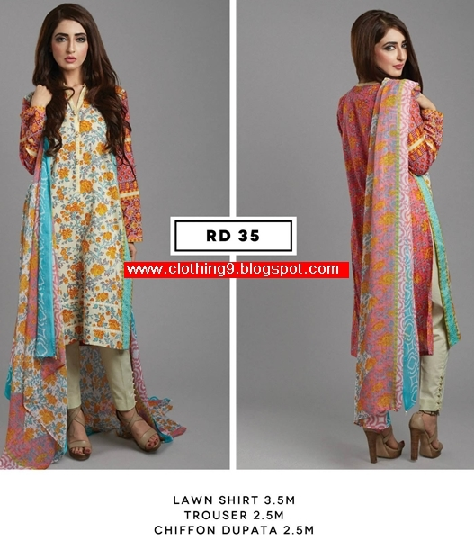 BEECHTREE Unstitched Lawn Midsummer / Eid 2015