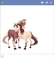 Lovable Horses Emoticon