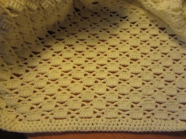 Lacy Crochet Lacy Chessboard Baby Blanket