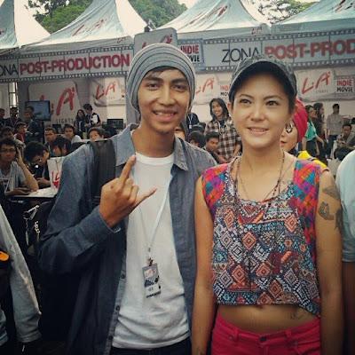 Poppy Sovia dengan Adam Azkiya La Indie Movie Bandung