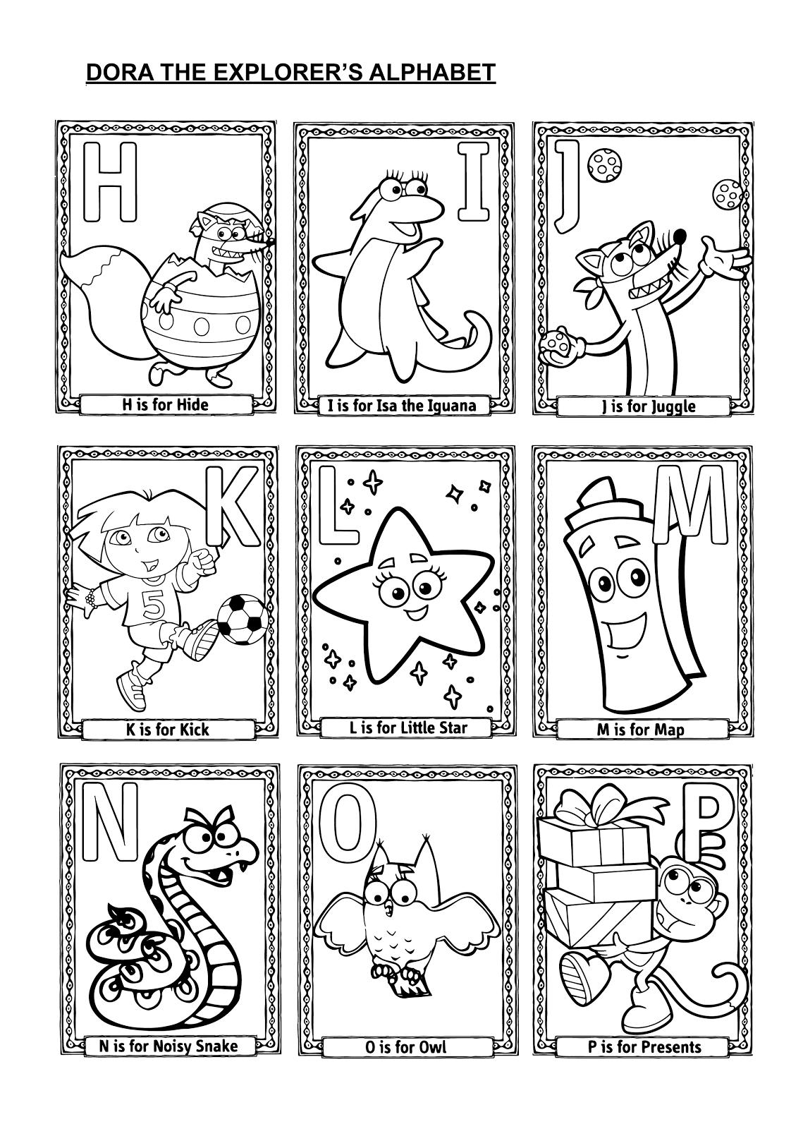 Pginas para colorear originales Original coloring pages ABCs