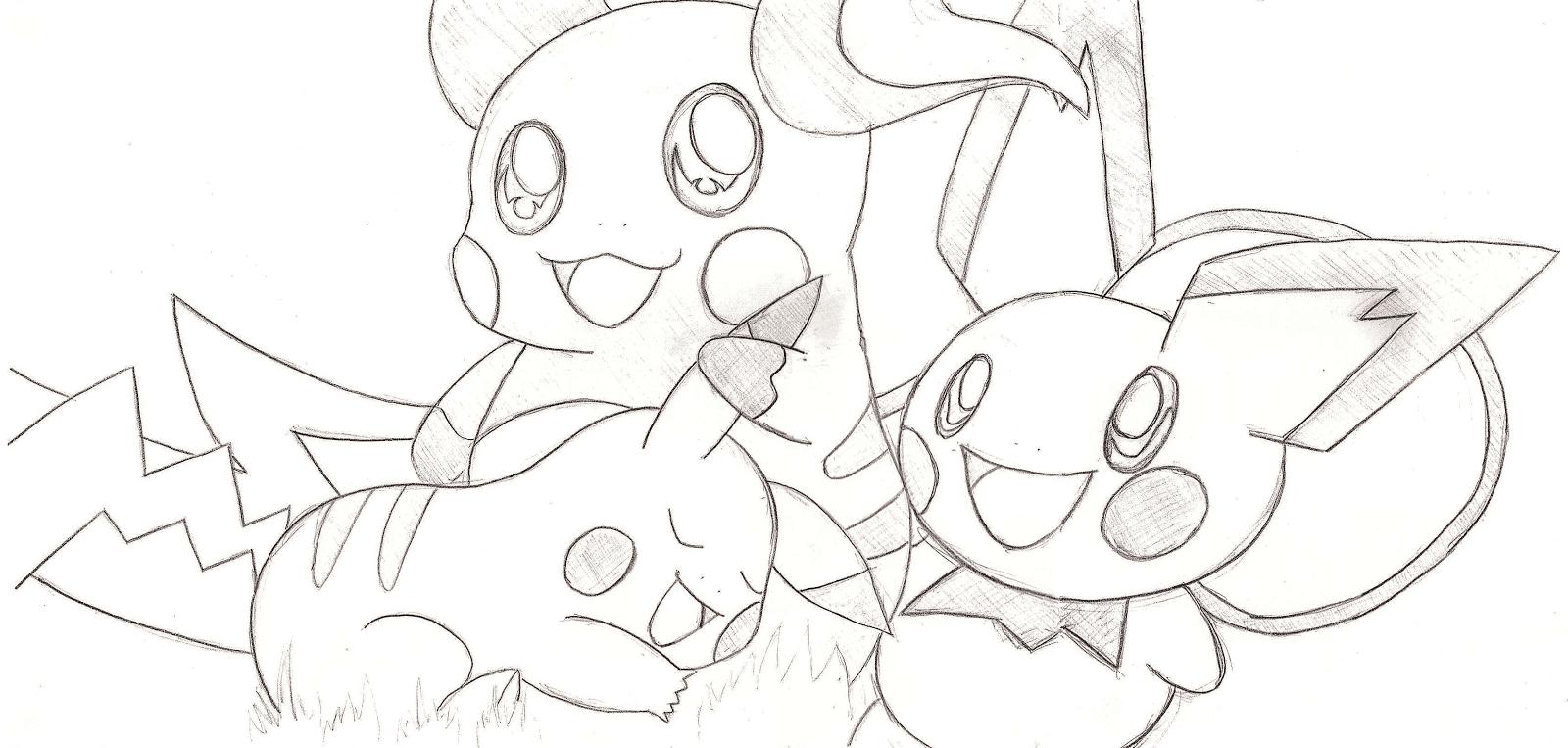Tecanime cr ateca - Pokemon famille pikachu ...