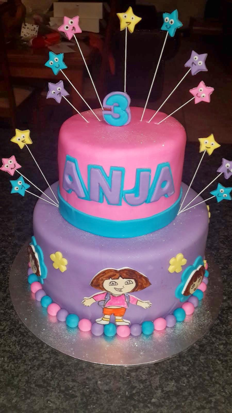 Dora cake for Anja