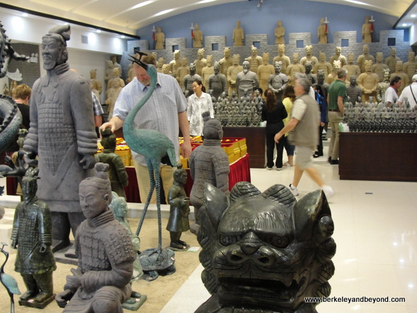 gift shop at factory reproducing Terracotta Warriors souvenirs in Xi'an, China