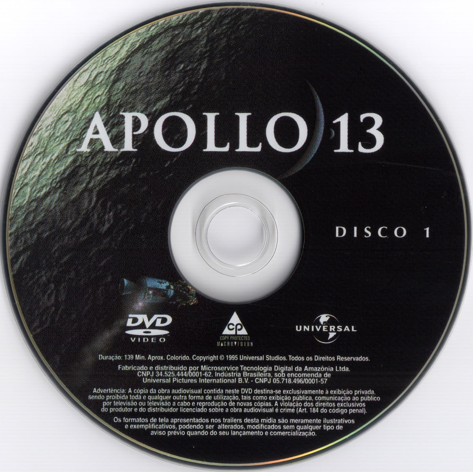 Label DVD Apollo 13 Disco 1