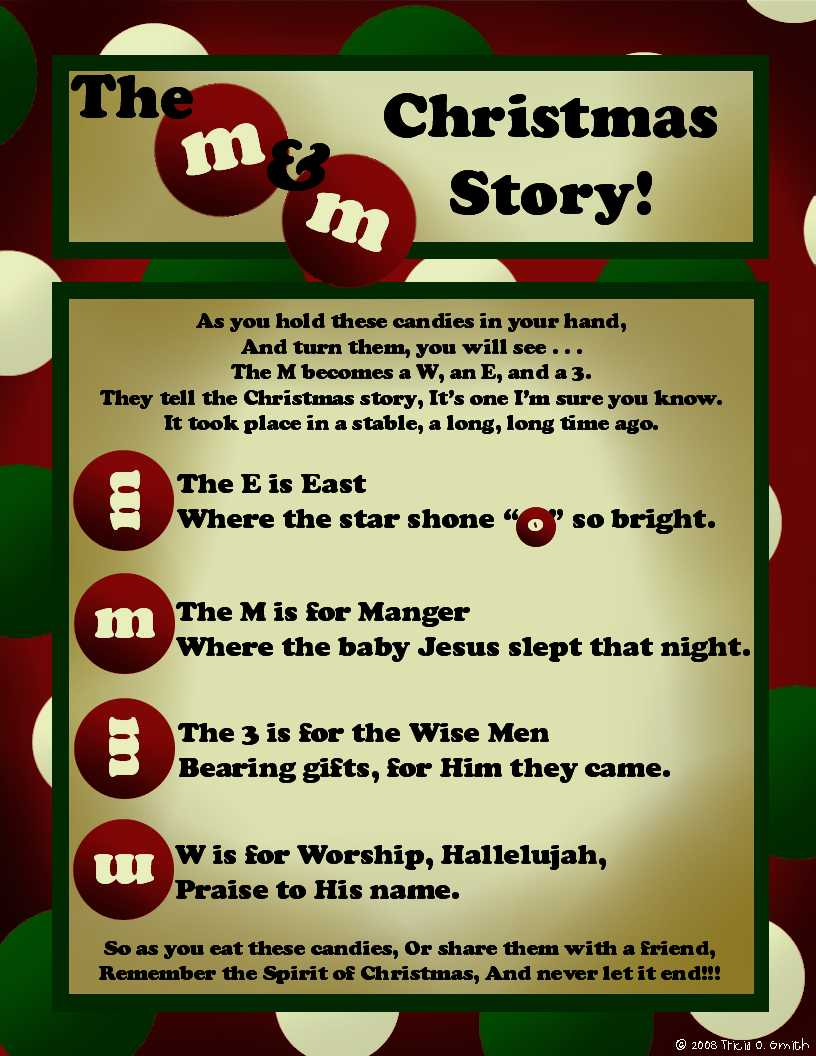 Prepared NOT Scared!: The M&M Christmas Story!