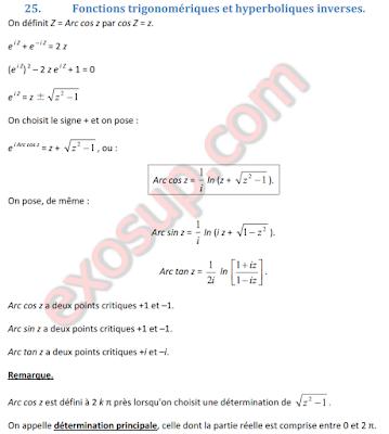 fonctions circulaires et hyperboliques inverses