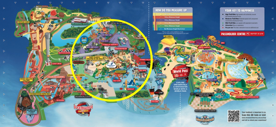 The golden adventures of dreamworld with under 5s time in the dreamworks experience followed by some toned down afternoon fun in abc kids world both in the circled portion full map available here gumiabroncs Images